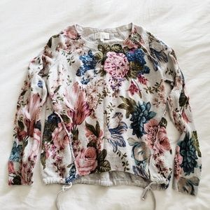 Anthro Angel of the North Floral Sweater